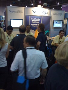 Another picture of the VMLogix booth